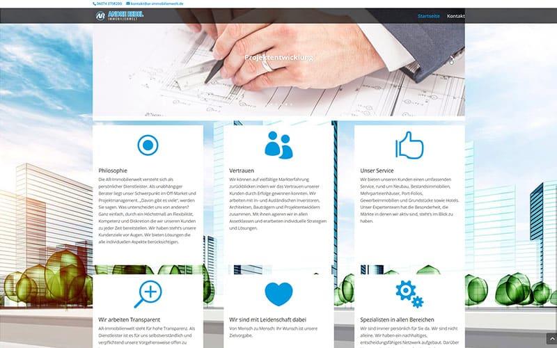 Erstellung Immobilien Website