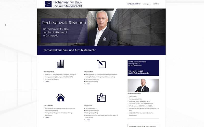 Darmstadt | Neue Website für einen Anwalt