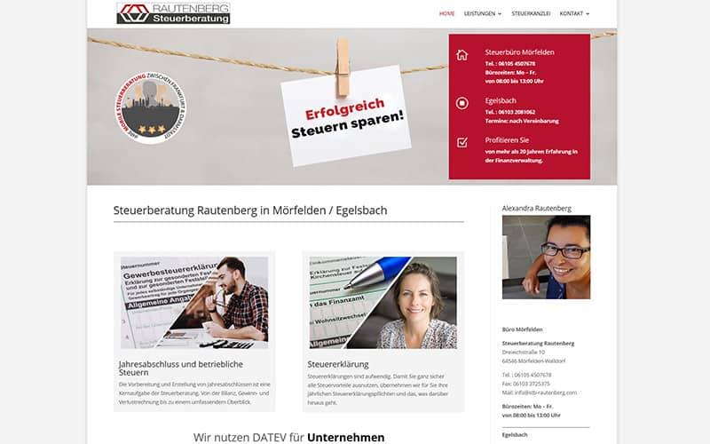 Mörfelden | Erstellung Website für eine Steuerberatung