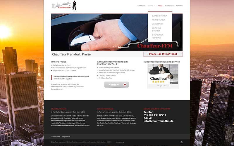 Chauffeur-Homepage-erstellen