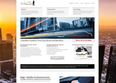 Chauffeur Homepage Frankfurt