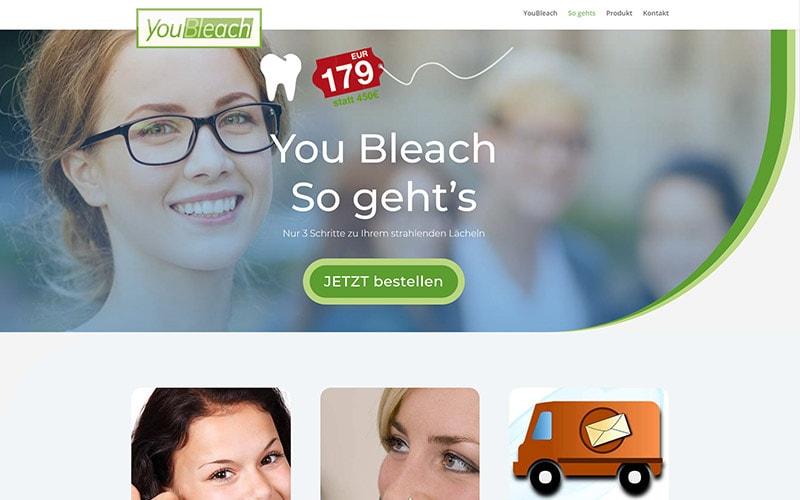 Produktwebsite-für-weiße-Zähne