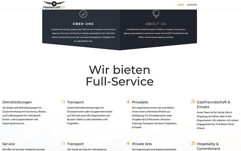 WordPress für einen Piloten
