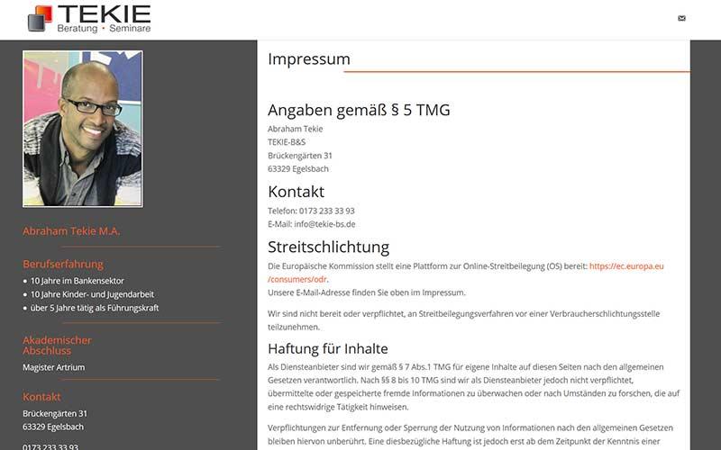 Egelsbach | WordPress Onepager für einen Coach