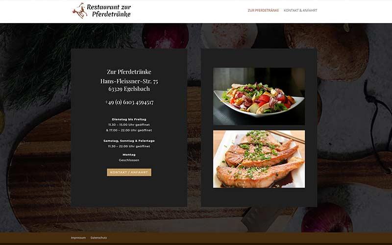Egelsbach | Homepage für das Restaurant Pferdetränke