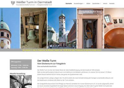 Weißer Turm Darmstadt: Komplettes ReDesign der Homepage