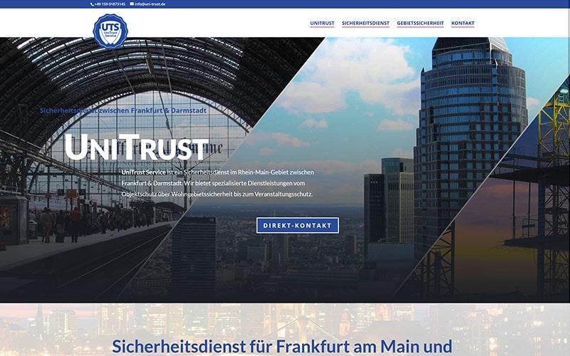 Homepage-Erstellung Sicherheitsdienst