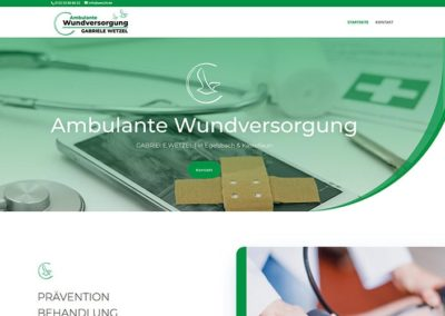 Homepage-Erstellung Ambulante Wundversorgung