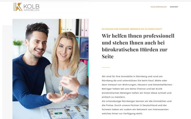 Homepage-Erstellung Immobilienmakler in Nürnberg
