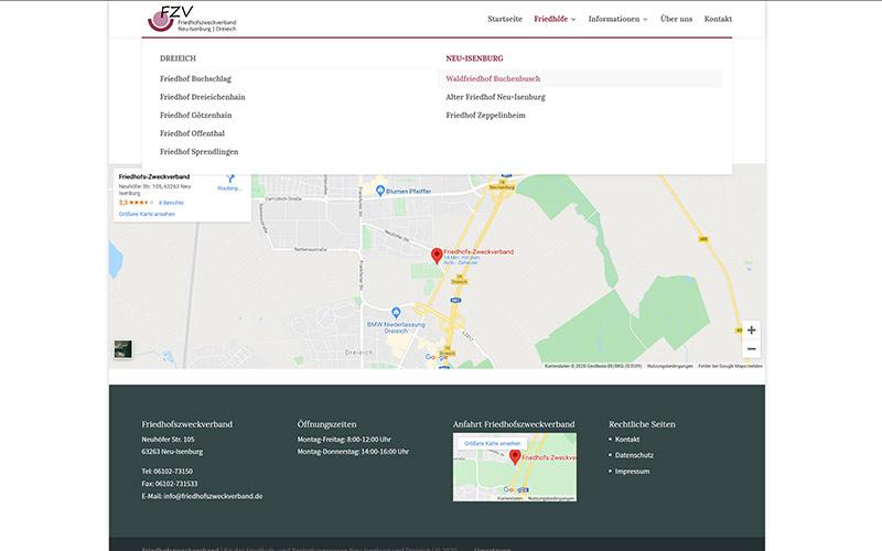Homepage Redesign Friedhofszweckverband Neu-Isenburg & Dreieich