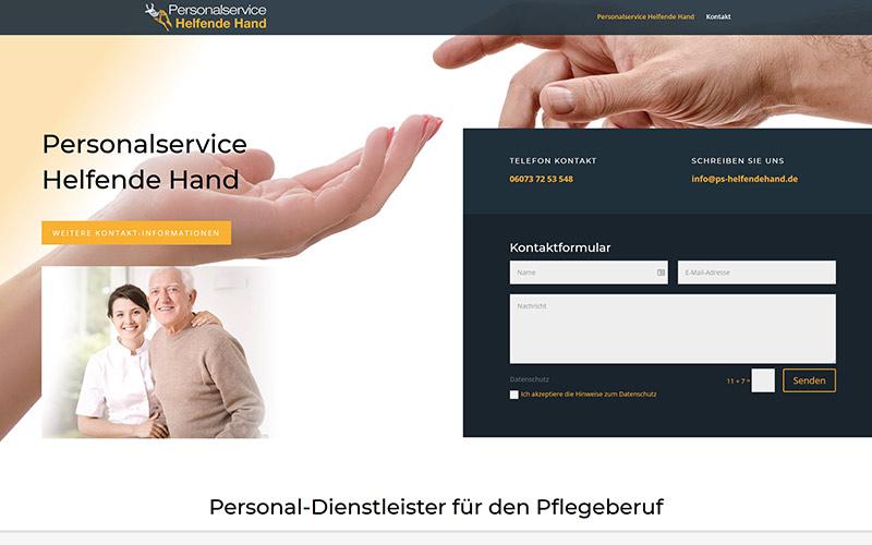 Homepage für Personaldienstleister in Frankfurt und Babenhausen
