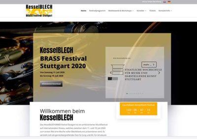 Kesselblech Festival Homepage mit GTranslate