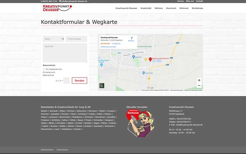 Homepage Erstellung Einzelhandel Egelsbach