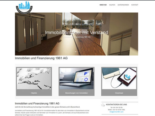 Erstellung Homepage Schweizer Immobilienmakler