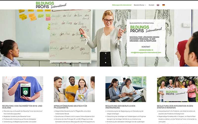 Frankfurt | Erstellung einer Bildungs-Website