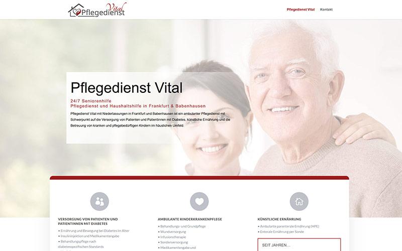 Website für einen Pflegedienst aus Frankfurt & Babenhausen