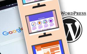 Vergleich Google Webpage, Baukastensystem und WordPress Website