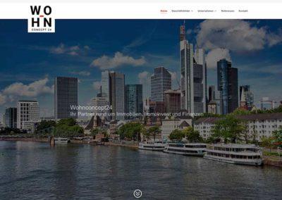 Frankfurt Referenz WordPress Homepage