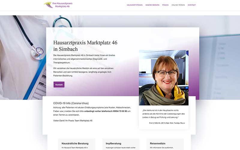 Homepage für einen Hausarzt in Simbach