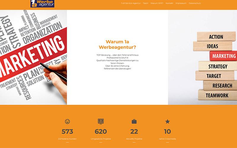 Landingpage im Homepage Baukasten
