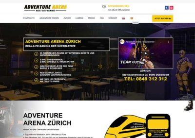 Adventure Arena Schweiz | WordPress Website Funpark