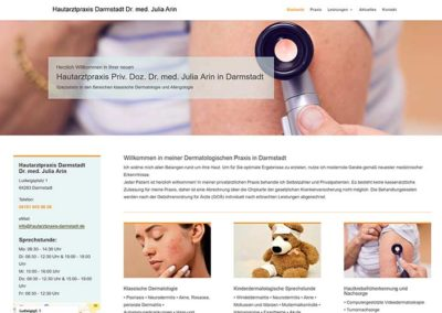 Darmstadt | Erstellung klassischer Arzt Homepage