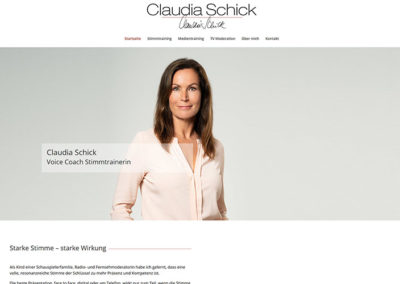 Homepage Re-Design für Hessens Moderatorin Claudia Schick