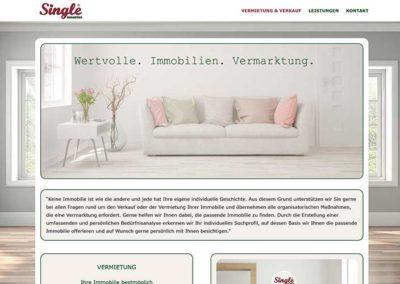 Neue Homepage für einen Immobilienmakler in Egelsbach