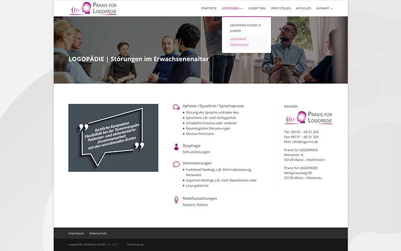 Mainz: Website Redesign Logopäde