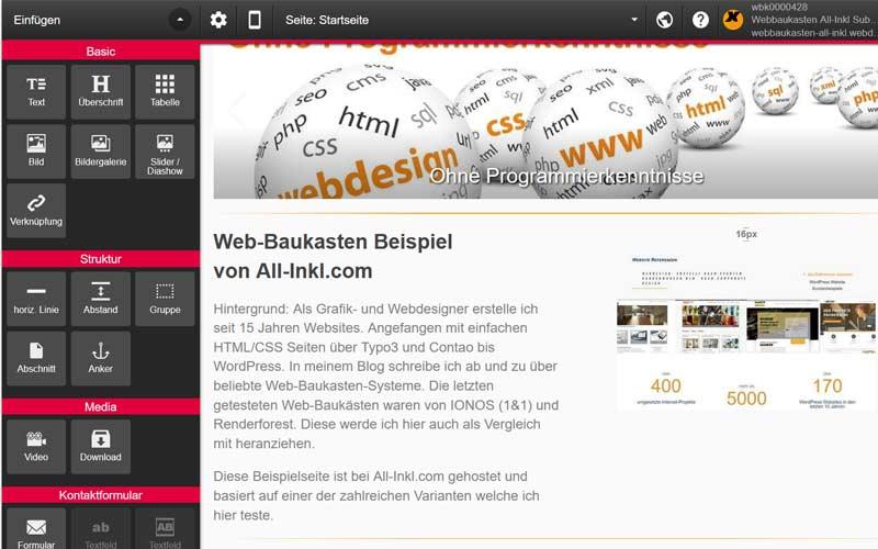 Web-Baukasten von All-Inkl.com