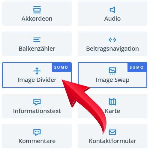 Bild-Abstandshalter für Divi (SUMO)