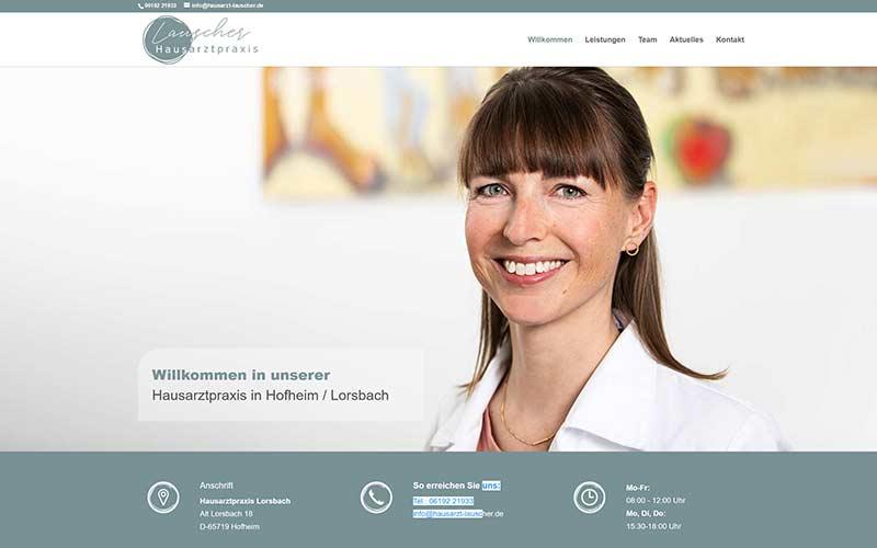 Homepage für eine Arztpraxis in Hofheim