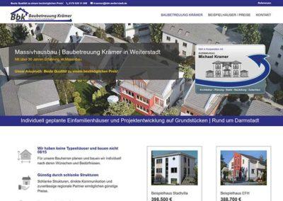 Neue Homepage für ein Bauunternehmen in Weiterstadt